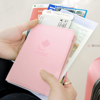 Fashion Lady Women Clutch Card Map Passport Purse Travel Bag Pocket Multifunction Wallet CB120