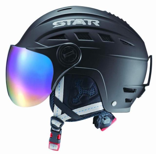 livraison gratuite neuf casque de ski avec coque en abs protection snowboard snowboardig casque de ski avec miroir pour hommes et femmes