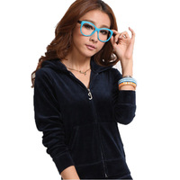 Clothing 2012 spring and autumn velvet sports set female fashionable casual set female summer large