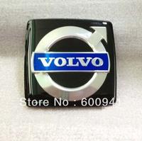 1PCS Flat Surface Luxury  Car Chrome 3D Badge Emblem Sticker  Hood Grille Bumper Trail Boot Trunk  5.3CM  For  VOLVO