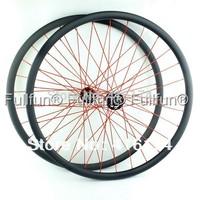FULLFUN 29er 25mm 24mm width Tubeless Carbon Wheelset Clincher Mountain Bike Full Carbon Novatec 711/712 Hubs CN494 Aero Spokes