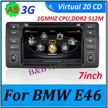 A8 New Model 4G memory, 1GMHZ CPU,DDR2 512M 3G car unit dvd gps for BMW E46 Car dvd player High Speed