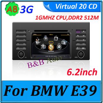 car unit radio gps player for BMW E39 E53 E38 6.2 inch 1GMHZ CPU/DDR2 512M/Virtual 20 CD/High quality  radio cd/ 3G internet