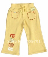 FREE SHIPPING G068# Children's wear girls pants with embroidery and printing,2013 New Hot