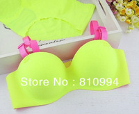 Free shipping 2013 hot selling seamless bra set young girl's underwear set 5 sets/lot 21 colors Drop shipping