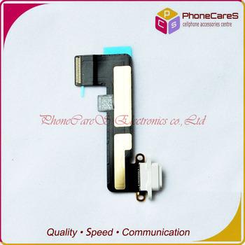 1pcs/lot ,White Original Charging Port Dock Flex Cable Ribbon Connector part For iPad mini,Free shipping By HongKong Post