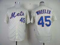 Hot New York Mets #45 Pedro Martinez Cream Baseball Jerseys Embroidery logos Free Shipping mix order