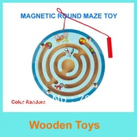 Free Shipping Cute Wooden Magnetic Pen Maze/Wooden Cartoon Animal Maze  For Christmas&New Year gift