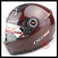Ls2 helmet motorcycle helmet carbon fiber double lens airbag helmet ff396