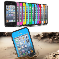 New Arrival Waterproof Shockproof Dirt Dust Proof Hard Cover Case For iPhone 5 5G Free Shipping