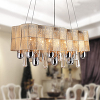 Modern dining room pendant light pendant lighting crystal lamps wire drawing