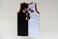 Free Shipping,Hot sale 2013 new Men's Split Basketball Jersey #3 Allen Iverson Jersey,Embroidery logos sport jersey Size:S-XXL