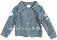 FREE SHIPPING F1360#Girls coats with embroidery,2013 New Hot