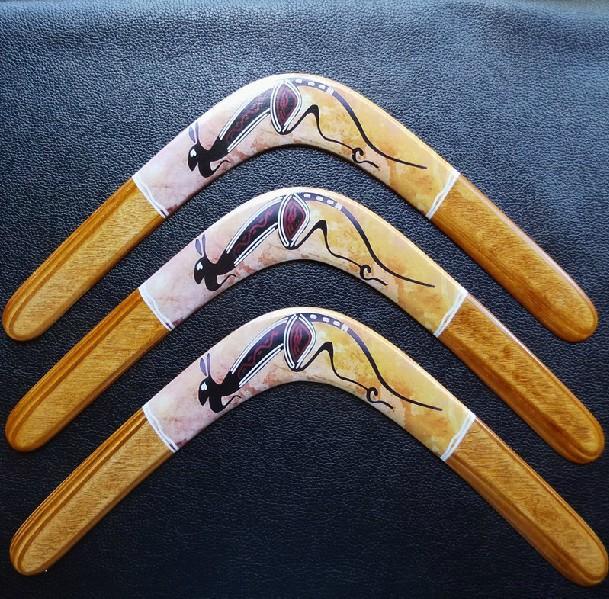 Spedizione gratuita 24 centimetri lunghezza ala destra legno boomerang divertimento all'aria aperta volo sportivo lancio ditta legno classico giocattolo f103