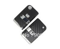 Car Modified Flip Remote Key Shell Case for Hon da Fit,CRV,Odyssey 2 Buttons 3D Carbon Fiber Sticker + Free Shipping