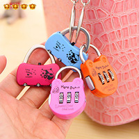 Diary lock bags lock bags anti-theft lock alloy lock 3 swivel plate 4637