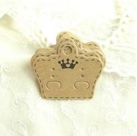 Free Shipping Wholesale 500pcs/lot 5x4.1cm Kraft Paper Earrings Card Retro Packaging Jewelry Packaging