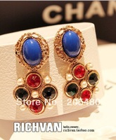 new arrival Jananse brand fashion style luxoury bule stone sexy drop earing for sexy culb and wedding