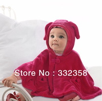 Free Shipping Baby winter coat with hood,infant jacket, Baby Cloak,thick design cape 3 times warm than wool coat