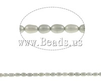 Free shipping!!!Rice Cultured Freshwater Pearl Beads,Womens Jewelry, grey, 5-6mm, Hole:Approx 0.8mm, Length:Approx 14.7 Inch
