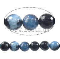 Free shipping!!!Natural Ice Quartz Agate Beads,Exquisite, Round, faceted & two-tone, 14mm, Hole:Approx 1mm