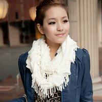 Women's Autumn and Winter Scarf plaid ultra long Tassel yarn Scarves muffler pullover