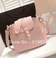 2013 women's handbag bucket bag  candy color one shoulder crossbody bag free shipping