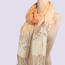 rabbit print scarf promotion
