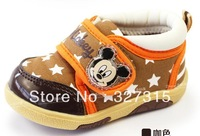 2013 Fall New (12-14.5) cm pink baby girls cute minnie mouse soft bottom shoes wholesale and retail + free shipping