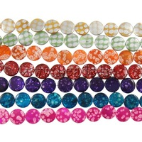 Free shipping!!!Natural Printing Shell Beads,personality, Coin, mixed colors, 15x4mm, Hole:Approx 1.5mm, Length:14.5 Inch