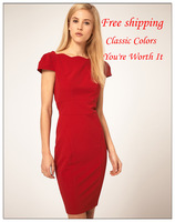 Free shipping 2013 new arrivel Flounced dress deep V sexy dress women's dress 2color size S-L fasion dress-311
