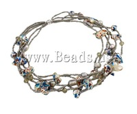 Free shipping!!!Crystal Freshwater Pearl Necklace,Diy, with Crystal & Glass Seed Bead, brass clasp, 13-27mm