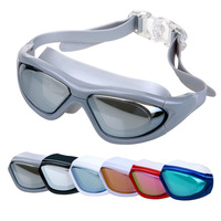 silicon Swimming goggles RH9110 Waterproof and anti-fog uv colourful glasses shining comfortable Swim Eyewear