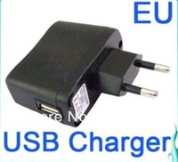 Free Shipping (via Post) 5pcs USB AC Power Supply Wall Adapter MP3 mp4 mp5  Charger EU Plug