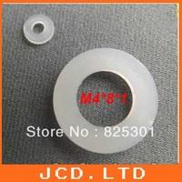 Flat Nylon Washers for M4 Screws/   Nylon Flat Thick Washers M4(ID) x 8(OD) x 1mm Thick