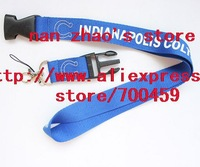 Hot 10pcs INDIANAPOLIS COLTS team Logo Lanyard/ MP3/4 cell phone/ keychains /Neck Strap Lanyard WHOLESALE Free shipping