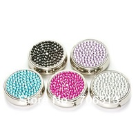 2013 Christmas Gift Wholesale Free shipping(20pcs/lot) Fashion 20 Mixed Colors crystal pill box