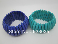 Natural turquoise bracelet 3 color flexible bracelet, pure turquoise jewelry, wholesale and retail prices, free delivery