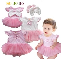 Free Shipment 265 baby girl's lace romper short-sleeve bodysuit 0.28kg/lot wholesales
