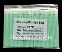 Free Shipping -500 pcs Cleanroom Micro Fiber Clean tip  Microfiber Swab - alternative to ITW Texwipe TX759B Micro Absorbond Swab