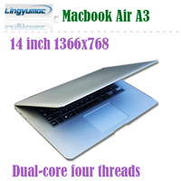14 inch windows laptops 1366x768 Atom D2550 Dual-core four threads 1.86 Ghz 4GB /500GB with HDMI A3