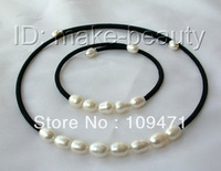 classic white baroque freshwater cultured pearl necklace bracelet