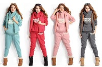 HOT!!!  Free shipping!!!  NEW SET 3 sport sweater autumn and spring season good quailty  women's sweatshirt hooded 3pcs/set