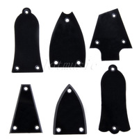 6pcs Different style Black Plastic Electric Guitar Truss Rod Cover