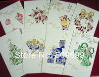 2013 New Arrival christmas cards greeting cards with envelope (folder size:130*210mm)