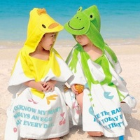 Bath towel 2 child bath phi swimwear cloak 100% cotton bathrobe bath towel child bathrobe toweled