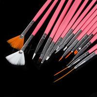 Professional 15pcs Acrylic Nail Art Design Painting Tool Pen Polish Brush Set