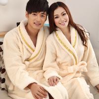 Lovers 2013 super soft coral fleece bathrobe robe sleepwear