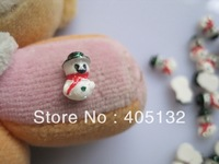 RC-175-3 200pcs/bag Cute Decoration Resin X-mas Snowman Resin Decoration Nail Art Decorations
