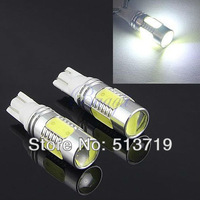 Free shipping 2X Wholesale auto light car lamp T10 7.5w car led bulb led wedge bulb 194 168 192 W5W lamp